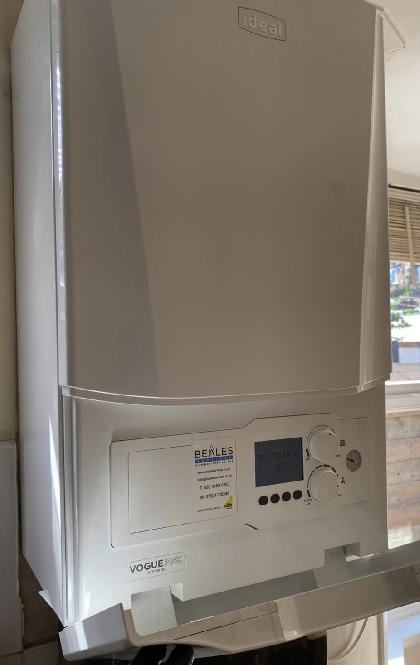 Ideal Vogue Max A rated energy efficient boiler with an extended 12 year manufacturer's warranty