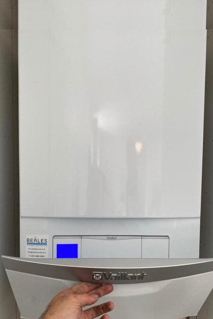 Vaillant ecoTEC plus 825 with 10 year warranty.  We are Vaillant Advance Mastertech Installers